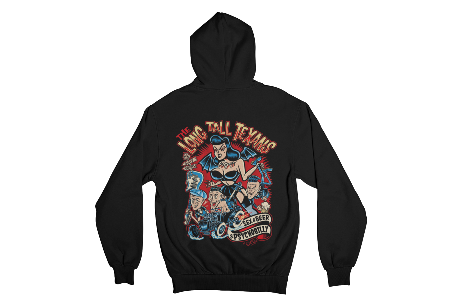 "LONG TALL TEXANS ""SEX & BEER & PSYCHOBILLY"" HOODIE ZIP for WOMEN"