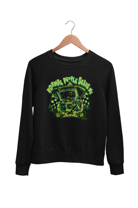 NORMAL PEOPLE SCARE ME SWEATSHIRT UNISEX by BY SOL RAC