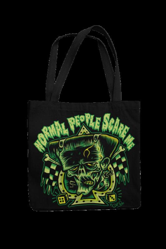 NORMAL PEOPLE SCARE ME Cotton Bag  logo design SOL RAC