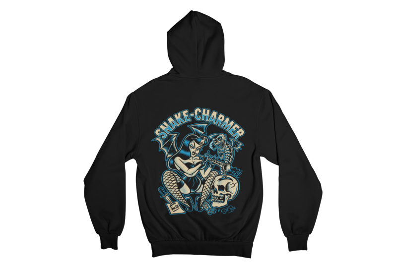 SNAKE CHARMER ME HOODIE ZIP for WOMEN by SOL RAC