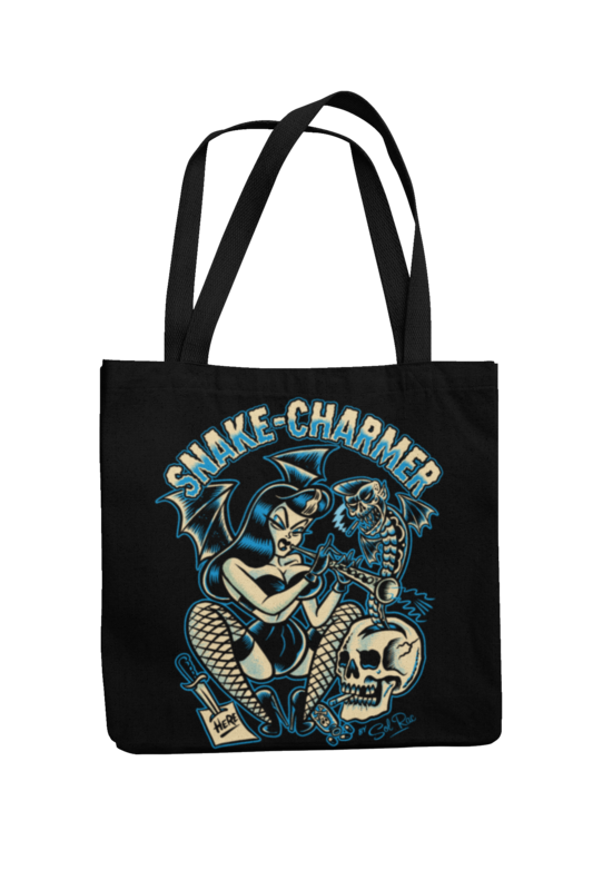 SNAKE CHARMER Cotton Bag  logo design SOL RAC