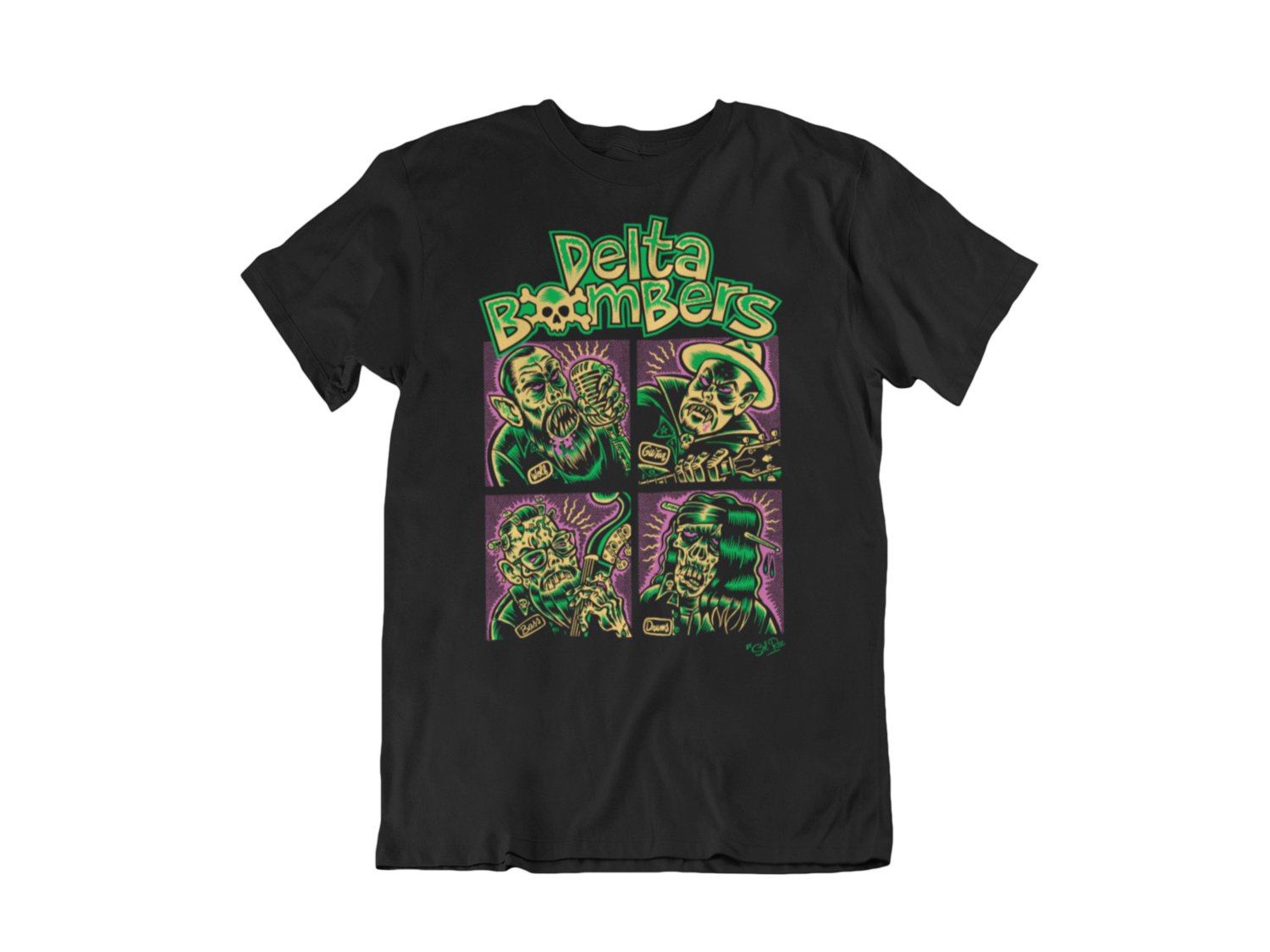 "THE DELTA BOMBERS T-SHIRT ""BOMBER BUNCH"" for MEN"