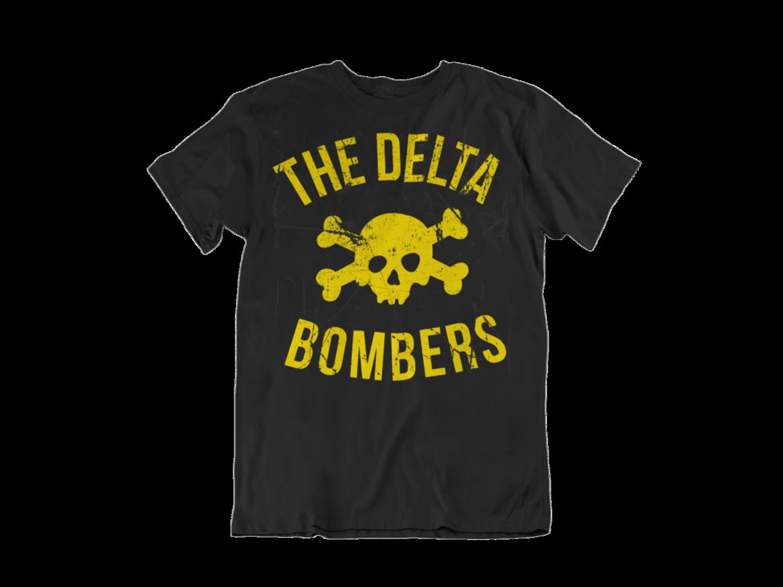 """THE DELTA BOMBERS T-SHIRT """"SKULL CLASSIC LOGO"""" for MEN"""