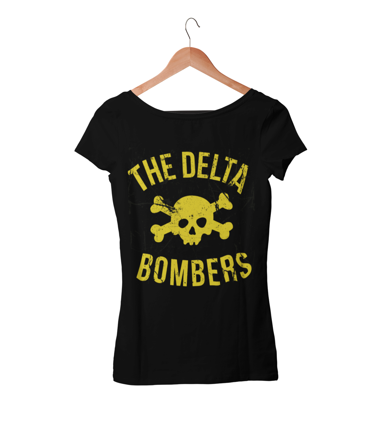 "THE DELTA BOMBERS T-SHIRT ""SKULL CLASSIC LOGO ""  WOMEN"