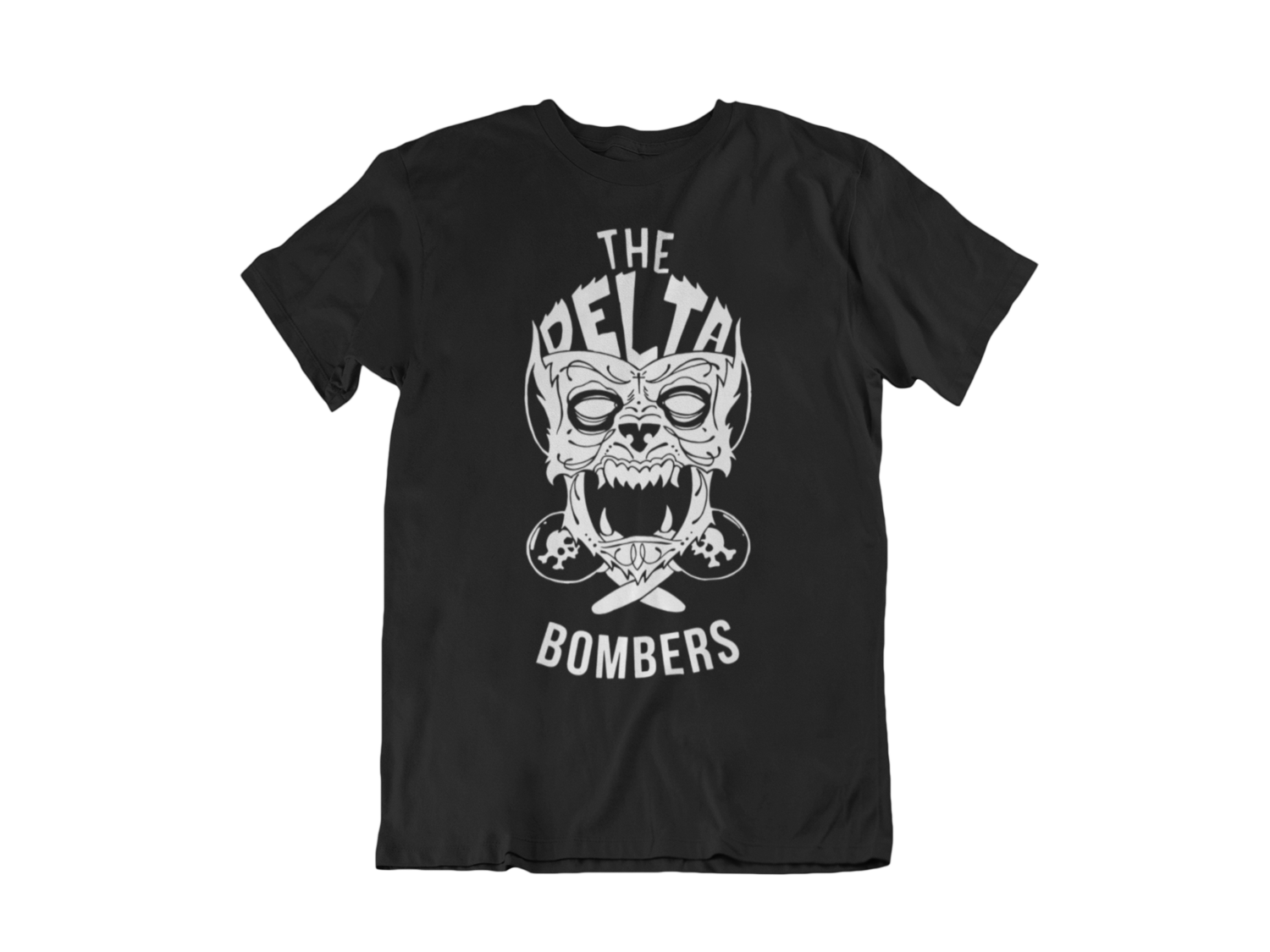"THE DELTA BOMBERS T-SHIRT ""WOLF FACE"" for MEN"
