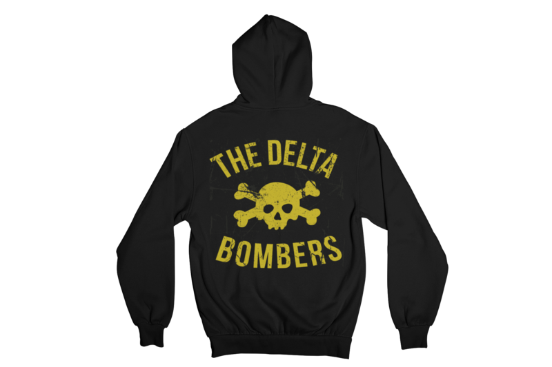 "THE DELTA BOMBERS ""SKULL CLASSIC LOGO"" HOODIE ZIP for WOMEN"