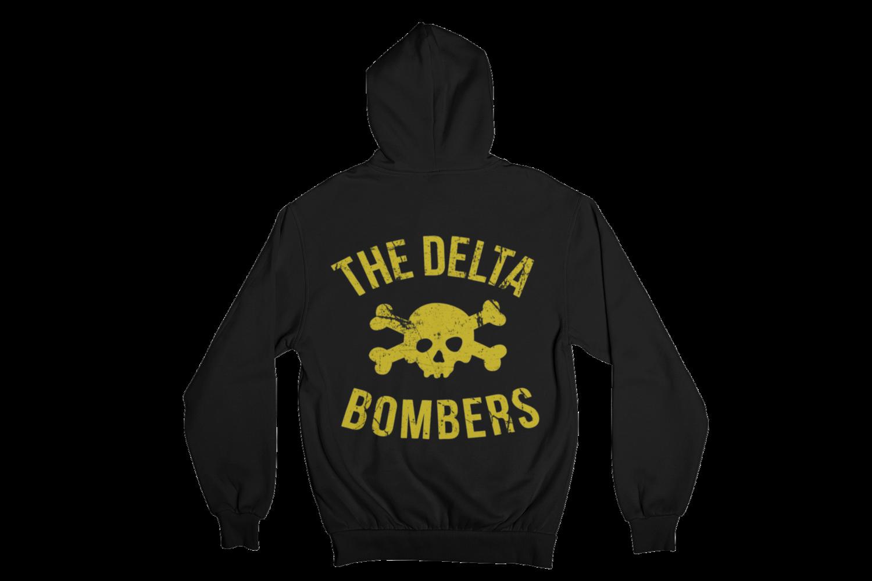 """THE DELTA BOMBERS """"SKULL CLASSIC LOGO"""" HOODIE ZIP for MEN"""