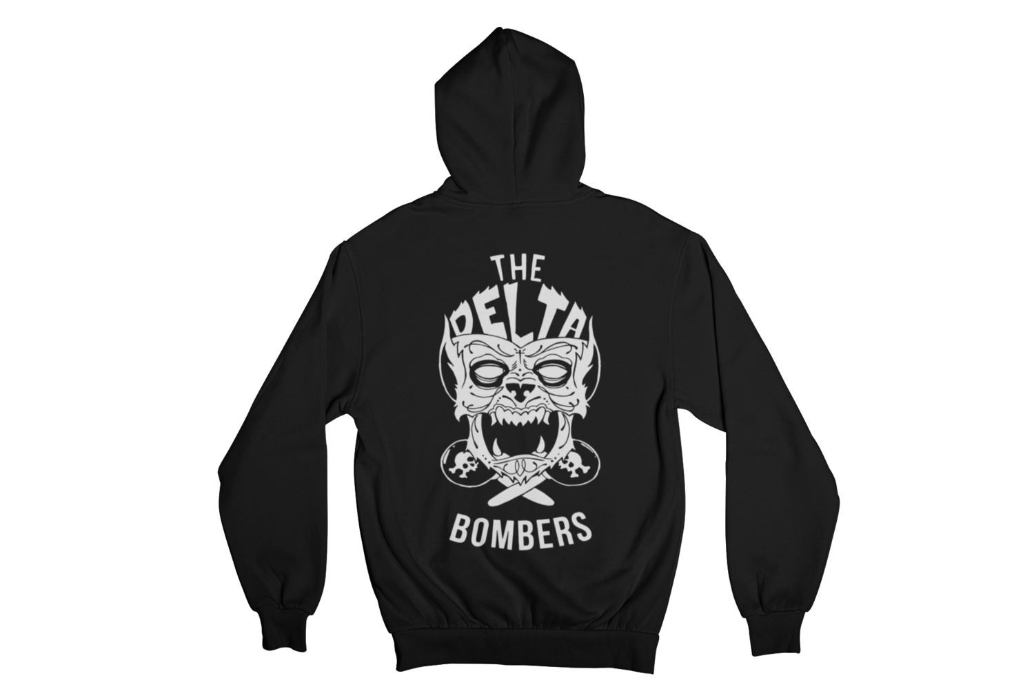 """THE DELTA BOMBERS """"WOLF FACE"""" HOODIE ZIP for MEN"""