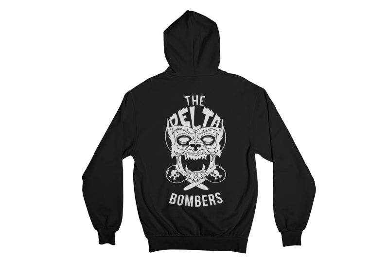 """THE DELTA BOMBERS """"WOLF FACE"""" HOODIE ZIP for WOMEN"""