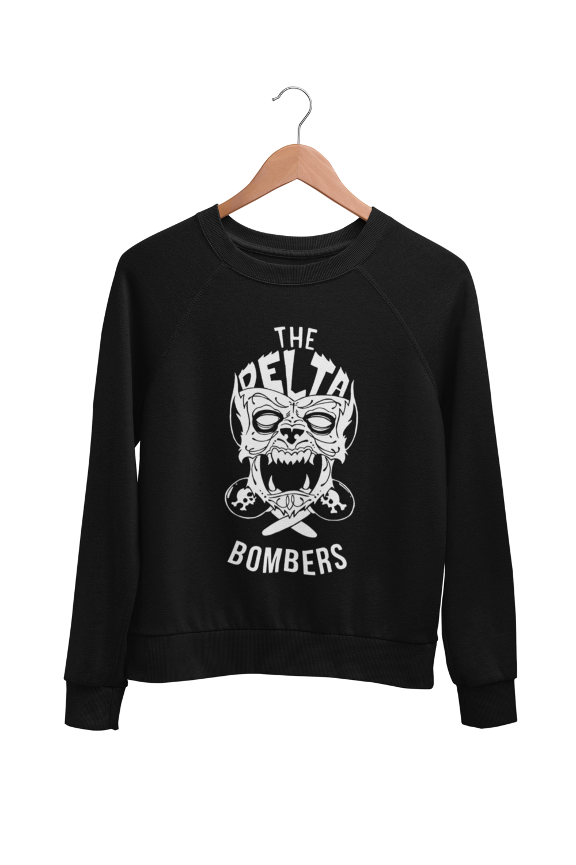 "THE DELTA BOMBERS ""Wolf Face"" SWEATSHIRT"