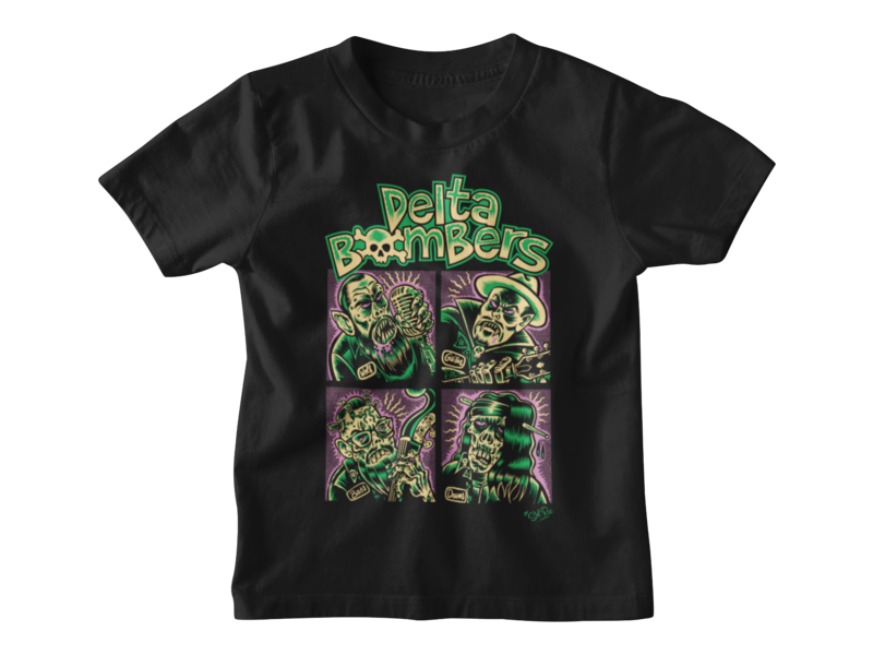 """THE DELTA BOMBERS """"Bomber Bunch"""" T-SHIRT KIDS"""