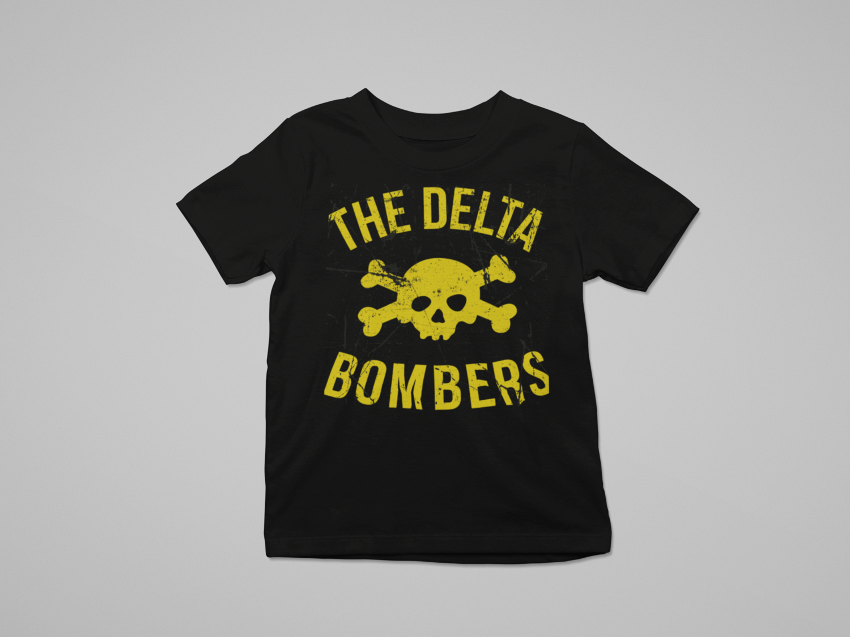 "THE DELTA BOMBERS ""Skull Classic logo"" T-SHIRT KIDS"