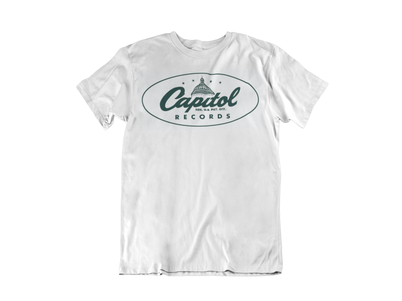 CAPITOL RECORDS RECORDS T-SHIRT MEN