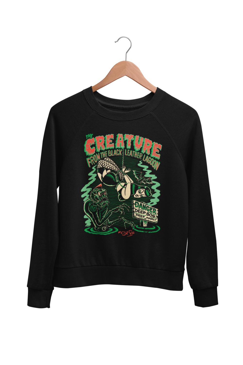 CREATURE FROM BLACK LEATHER SWEATSHIRT UNISEX by BY SOL RAC
