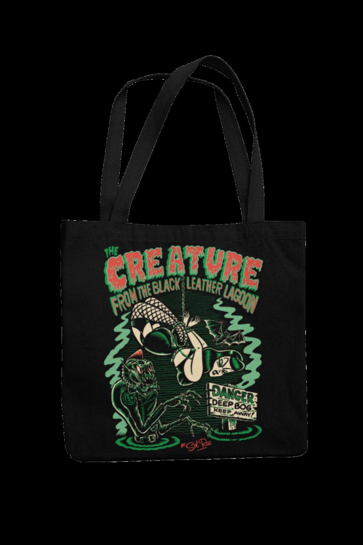 CREATURE FROM BLACK LEATHER Cotton Bag  logo design SOL RAC