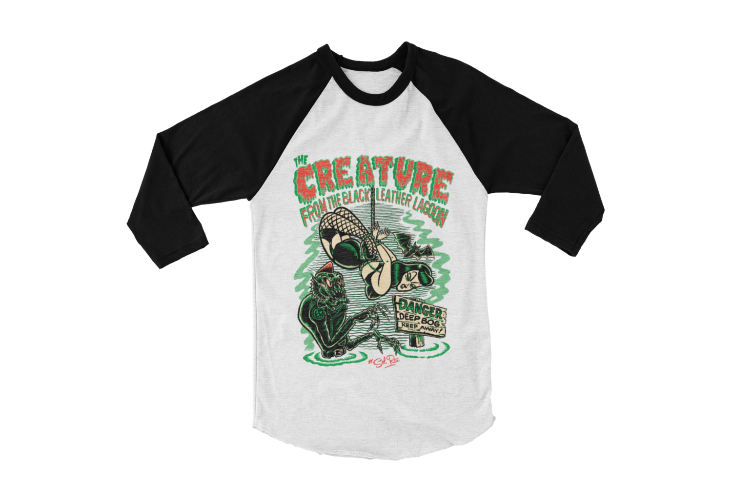 CREATURE FROM BLACK LEATHER BASEBALL LONG SLEEVE By SOL RAC