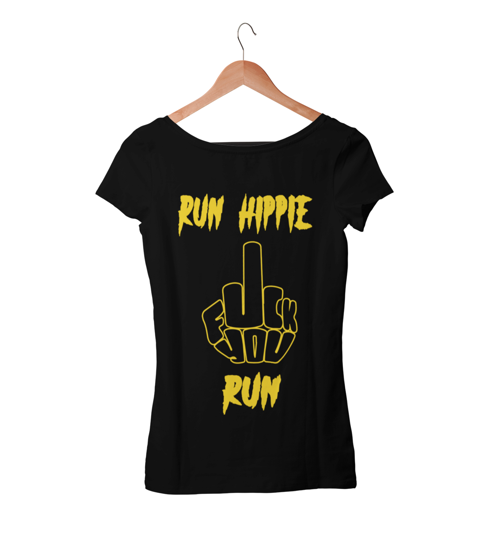 RUN HIPPIE RUN TSHIRT FOR WOMEN