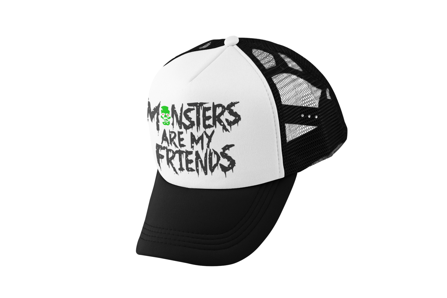 MONSTERS ARE MY FRIENDS TRUCKER CAP