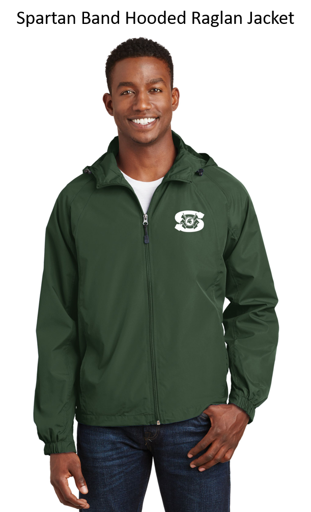 Spartan Band Raglan Sleeve Hooded Full Zip Jacket