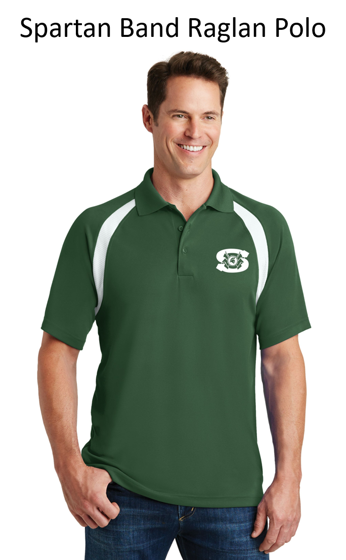 Spartan Band Raglan Sleeve Embroidered Polo