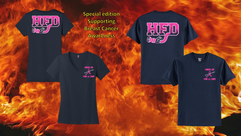 Houston Fire Department Breast Cancer Awareness Shirt