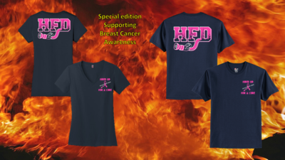 Houston Fire Department Breast Cancer Awareness Shirt