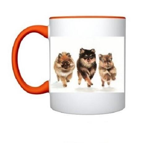 Puppy Mug in Bright Orange
