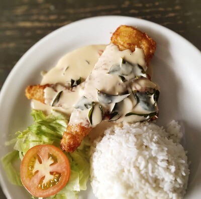 Crispy Fish Butter with Rice