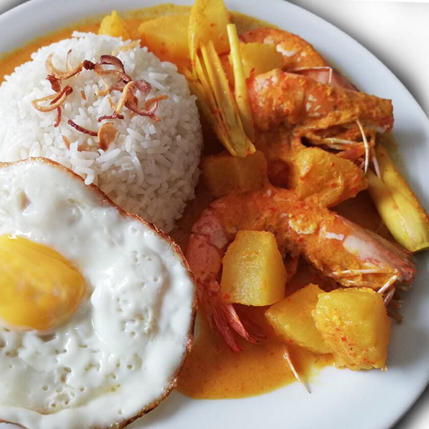 Lemak Nenas Udang With Rice