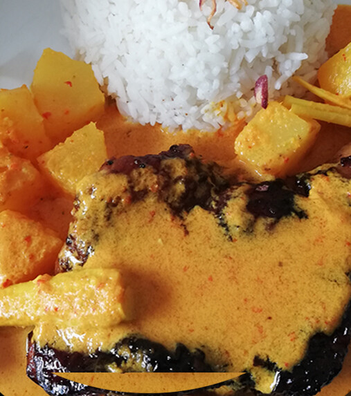 Lemak Nenas Ayam Grill With Rice