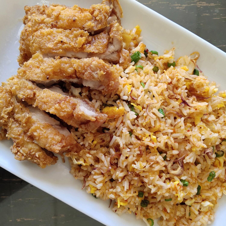 Nasi Goreng Merah Ayam Crispy
