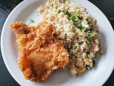 Nasi Goreng Cina Ayam Crispy