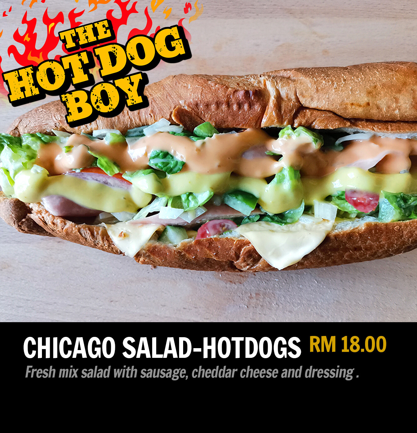 Chicago-Style Salad Hot Dogs