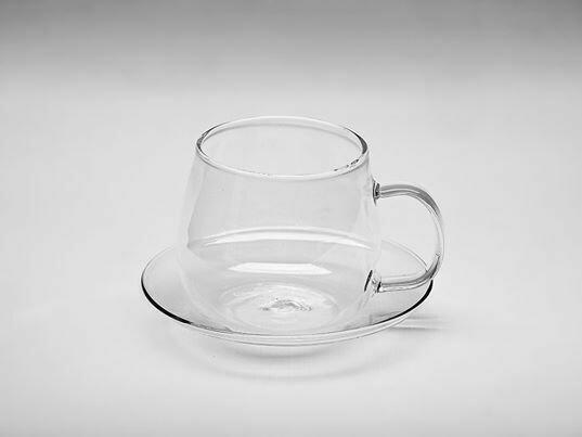 Γυάλινη κούπα & πιάτο