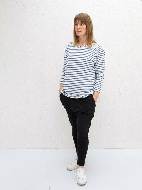 Robyn Top | Stripe | Charcoal