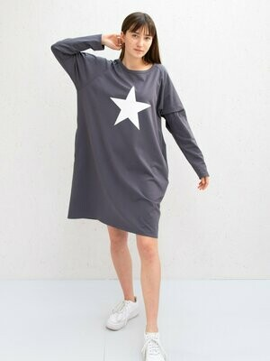 Brody Dress | Charcoal