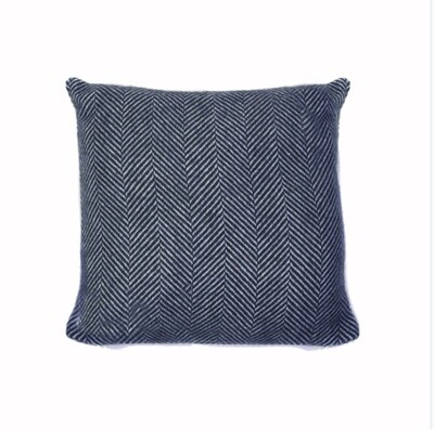Lifestyle Cushion 30 x 30cms Fishbone Navy