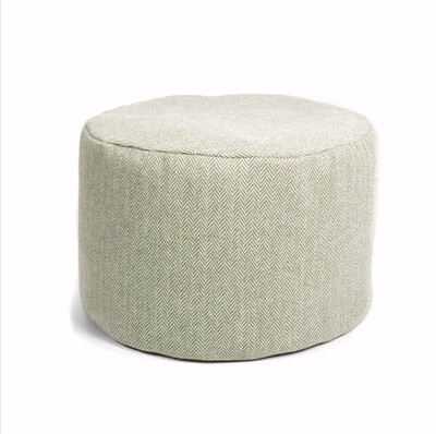 Tweed Pouf - Herringbone Olive/Sage