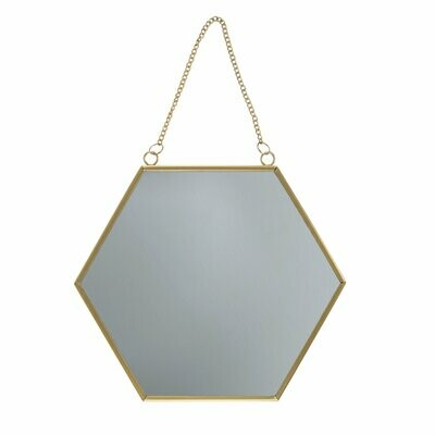 Hexagon Gold  Framed Mirror