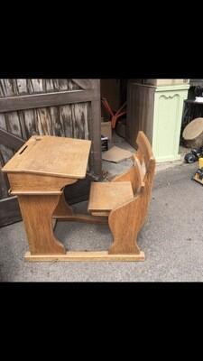 Vintage Child Desk & Chair