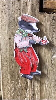 Mr Badger Christmas Hanging Decoration
