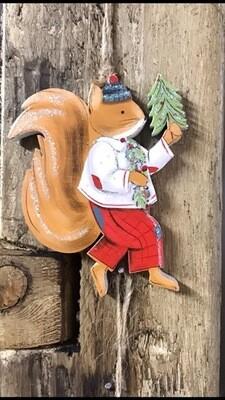 Mr Squirrel Christmas Hanging Decoration