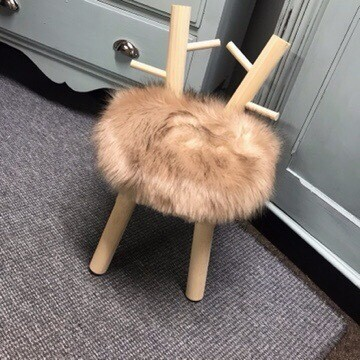 Child's Fluffy Stool