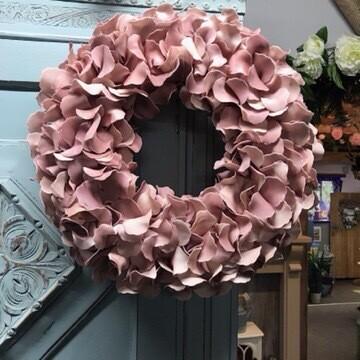 Pink Petal Wreath