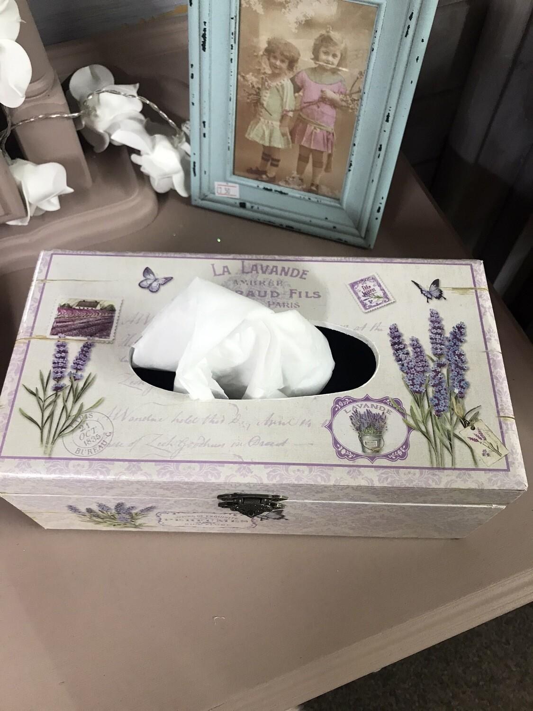 Lavender Tissue Box