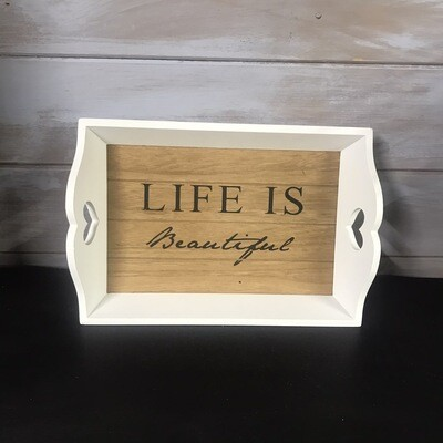 Small Life Is Beautiful Tray