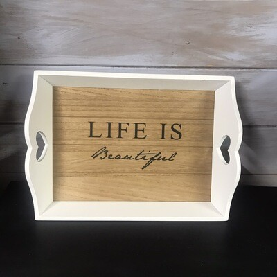 Large Life Is Beautiful Tray