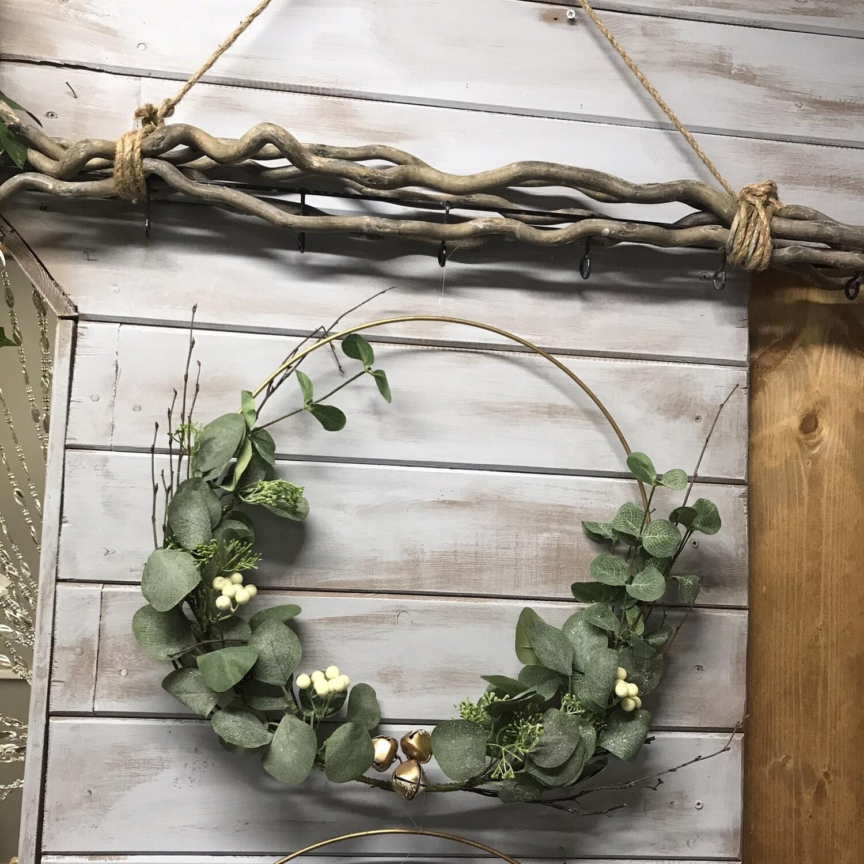 Gold Hoop Wreath 40x40cm