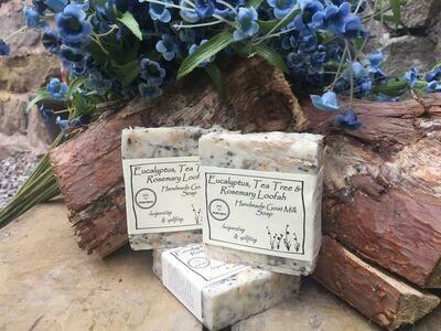 Eucalyptus, Tea Tree & Rosemary 'Loofah' Goat Milk Soap