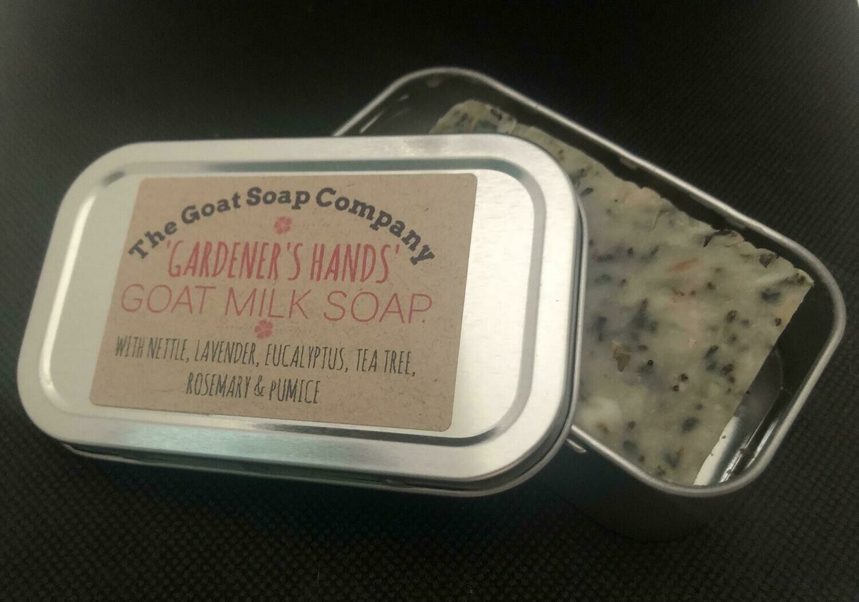 'Gardener's Hands' Goat Milk Soap-In-a-Tin